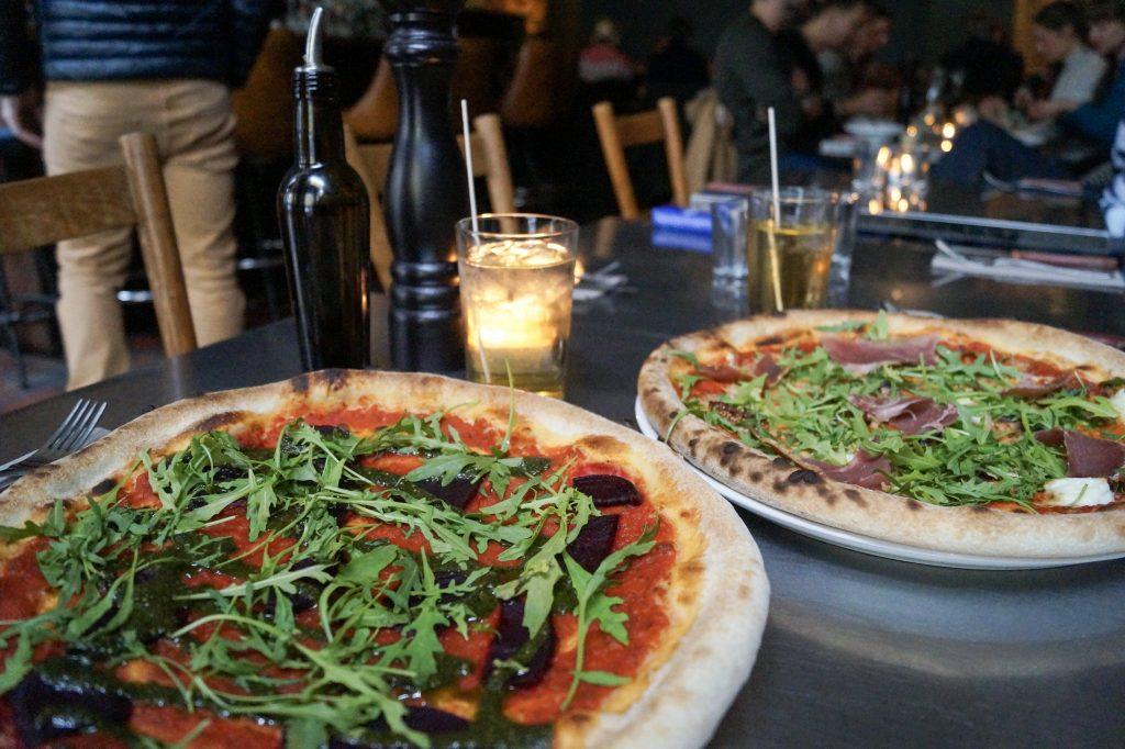 Vegane Pizza im The Italian Shot